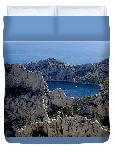 Exotic Rocks Calanques Duvet Cover
