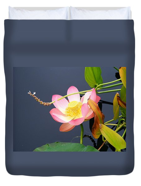 Duvet Cover featuring the photograph Exotic Waterlily by Margie Avellino