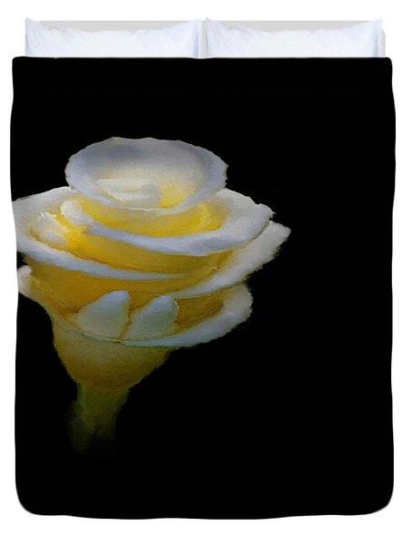 Exotic White Bloom Duvet Cover