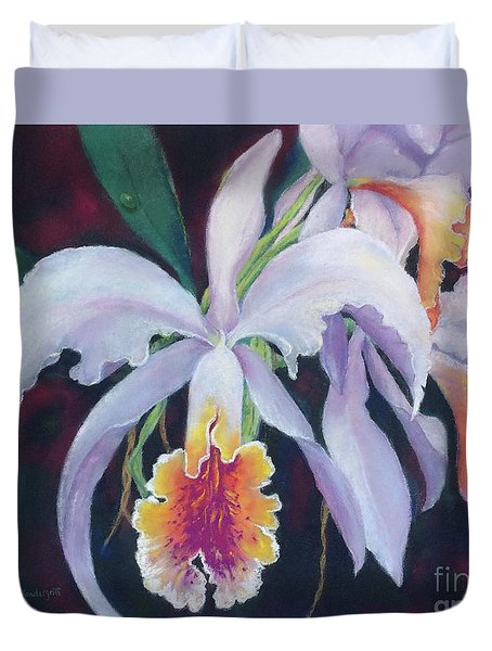 Exotic White Orchid Duvet Cover