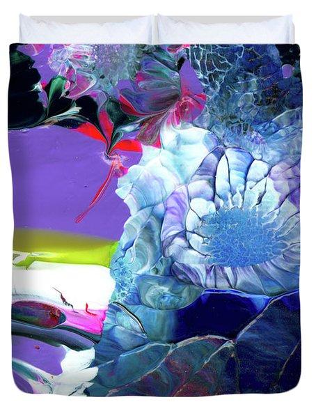 Exotic White Rose Island Duvet Cover