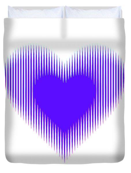 Expanding - Shrinking Heart Duvet Cover