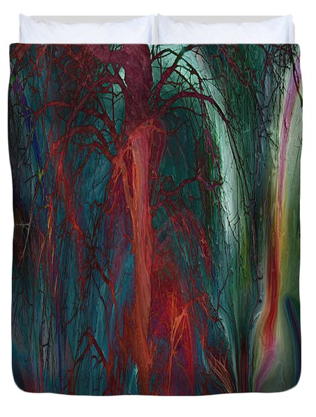Experimental Tree Duvet Cover by Linda Sannuti