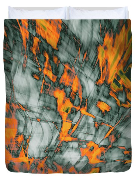 Exploded Fall Leaf Abstract Duvet Cover