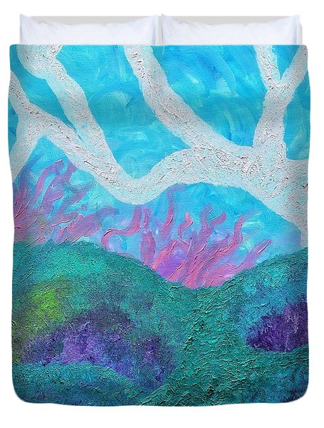 Exploration Fanospherelia Duvet Cover by Rachel Hannah
