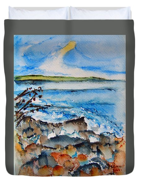 Explore The Shore Duvet Cover