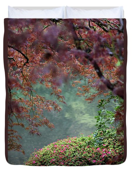 Duvet Cover featuring the photograph Exploring Beauty by Brandy Little