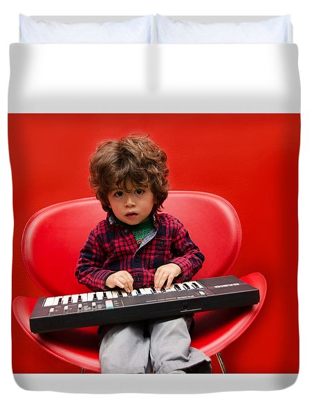 Exploring Piano Duvet Cover