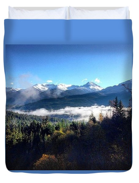 Exploring The Mountains Duvet Cover
