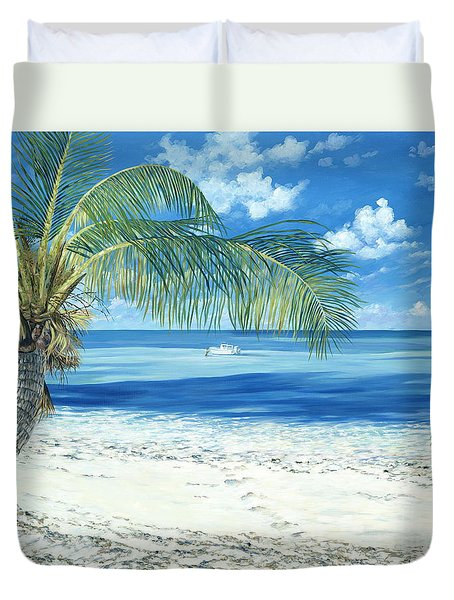 Exploring The Shallows Duvet Cover by Danielle  Perry