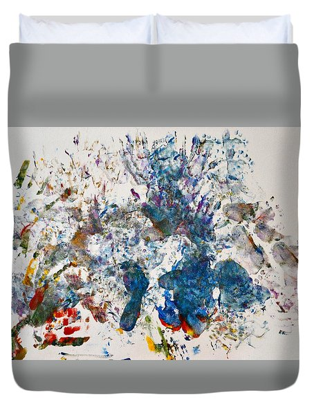 Explosion At The Macaroni Factory Duvet Cover