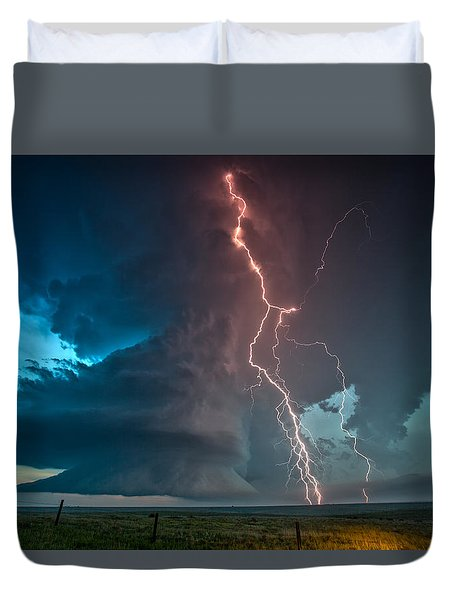 Explosion Of Light Duvet Cover by James Menzies