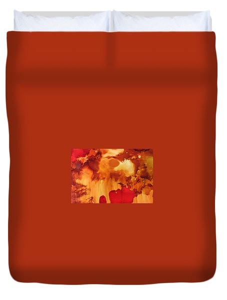 Explosion From The Galaxy Duvet Cover