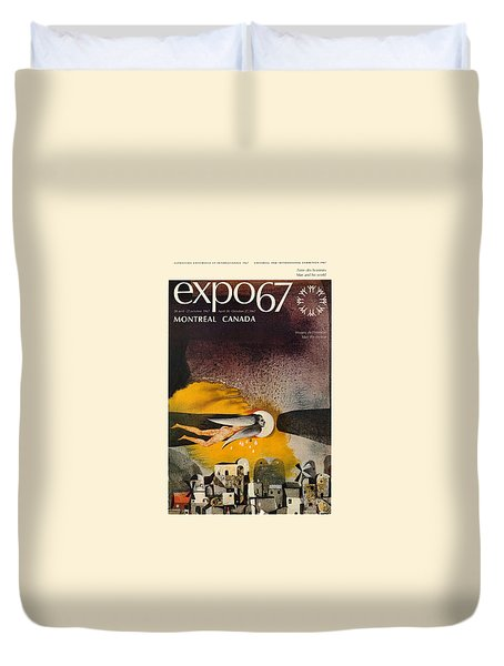 Expo 67 Duvet Cover by Andrew Fare