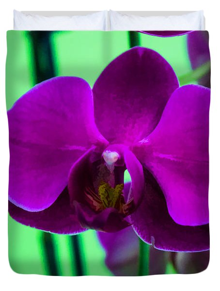 Exposed Orchid Duvet Cover