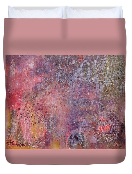 Duvet Cover featuring the painting Expression # 11 by Jason Williamson