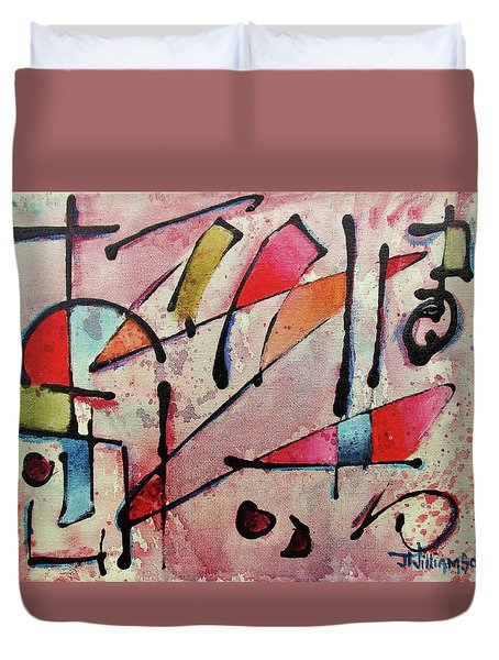 Duvet Cover featuring the painting Expression # 15 by Jason Williamson