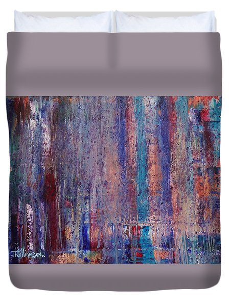 Expression # 9 The Blues Down And Out Duvet Cover
