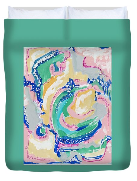 Expressive Abstract Pattern Duvet Cover
