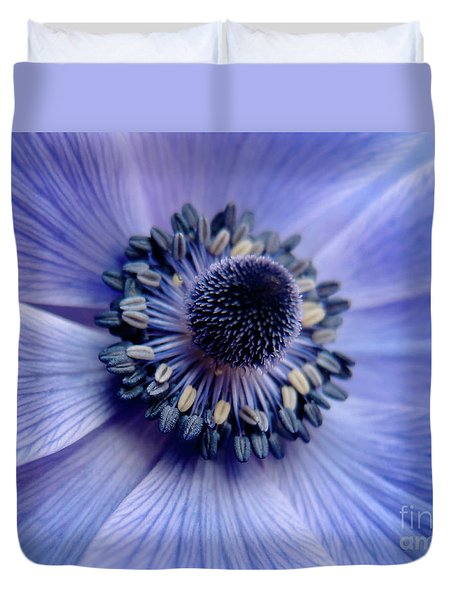 Expressive Blue And Purple Floral Macro Photo 706 Duvet Cover