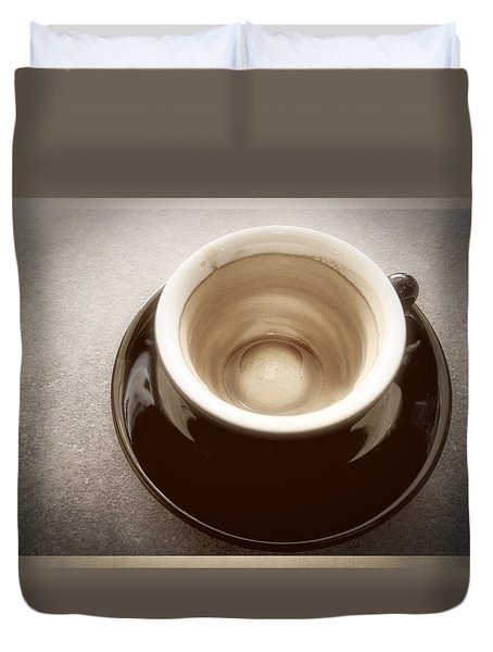 Expresso Dregs Duvet Cover