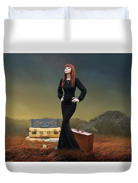 Duvet Cover featuring the mixed media Extended Weekend by Marvin Blaine