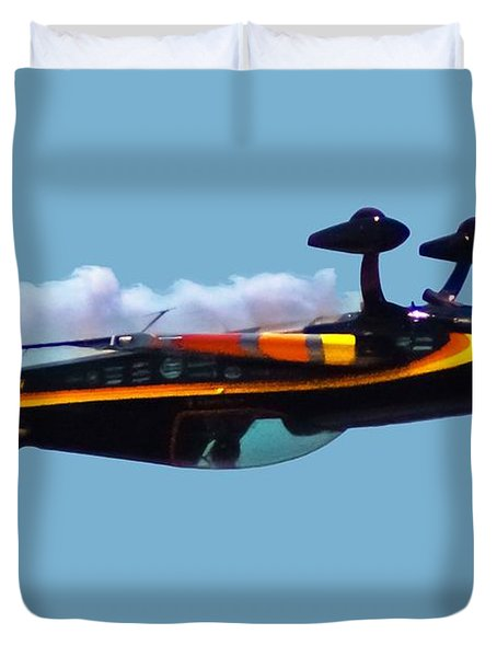 Extra 300s Stunt Plane Duvet Cover by DigiArt Diaries by Vicky B Fuller