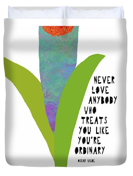Duvet Cover featuring the painting Extraordinary Love by Lisa Weedn