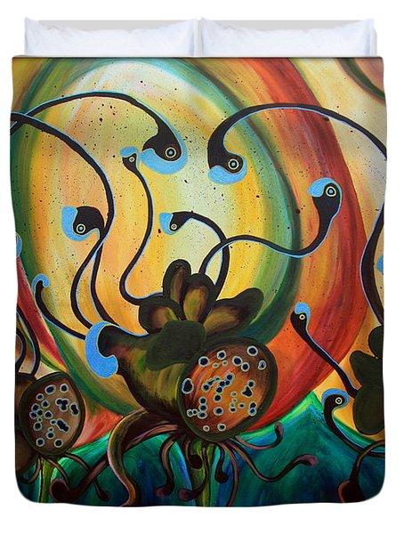 Extraterrestrial Flora Duvet Cover