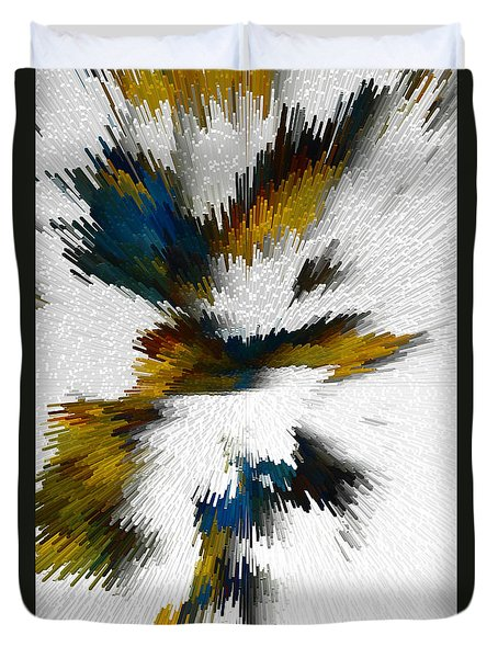 Duvet Cover featuring the digital art Sculptural Series Digital Painting 612.102310extrusion by Kris Haas
