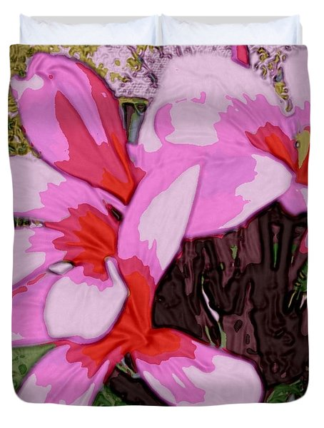 Duvet Cover featuring the digital art Exuberance by Winsome Gunning