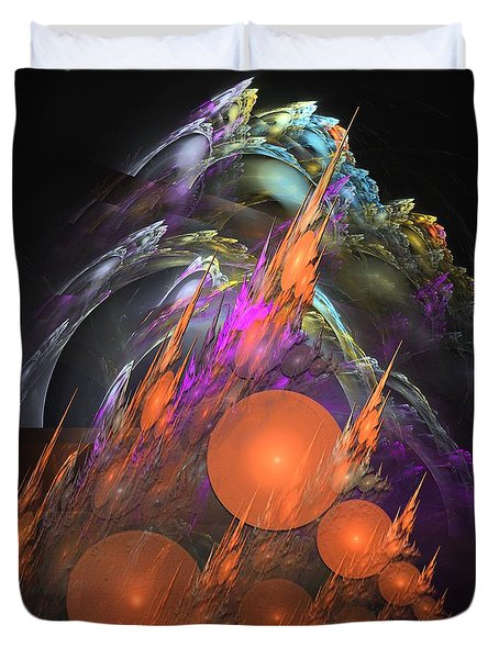 Exuberant - Abstract Art Duvet Cover