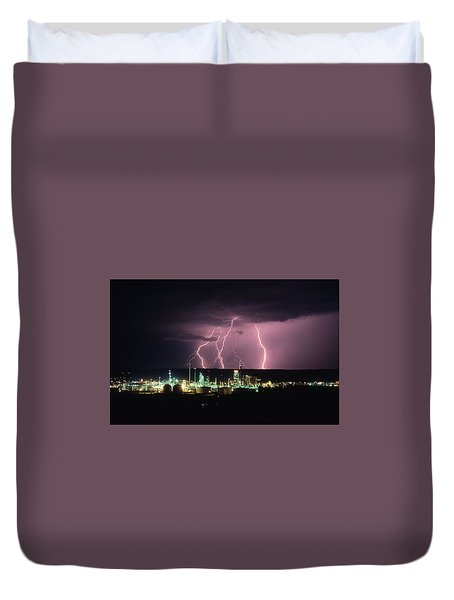 Exxon Lightning Duvet Cover