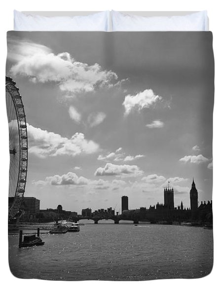 Eye And Parliament Duvet Cover