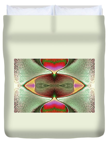 Duvet Cover featuring the photograph Eye C U  by Tony Beck