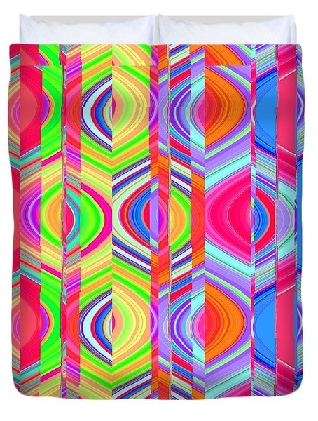 Duvet Cover featuring the photograph Eye Candy Three by Ann Johndro-Collins