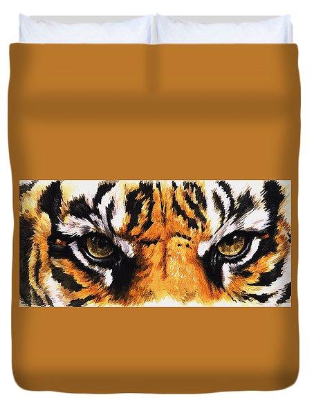 Eye-catching Sumatran Tiger Duvet Cover by Barbara Keith
