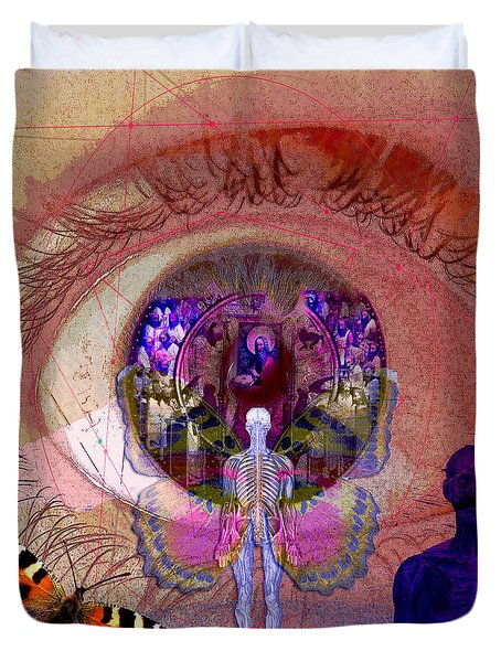 Eye Solar Duvet Cover by Joseph Mosley