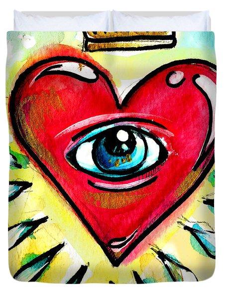 Eye Heart Crown Duvet Cover