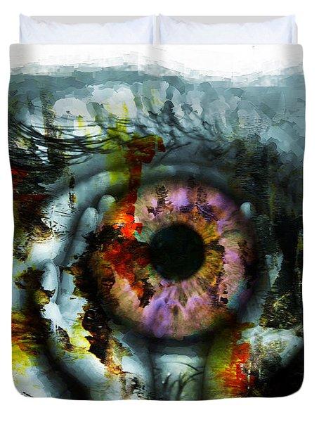 Eye In Hands 001 Duvet Cover
