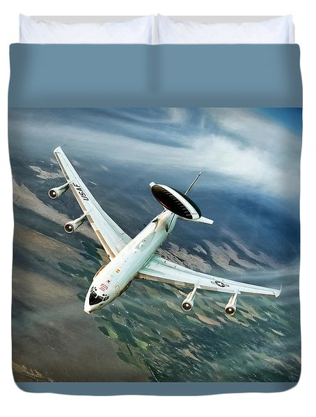 Eye In The Sky Duvet Cover by Peter Chilelli