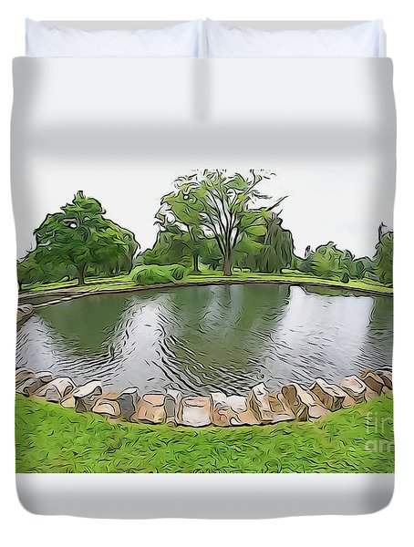 Eye Lake Duvet Cover