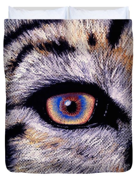 Eye Of A Tiger Duvet Cover