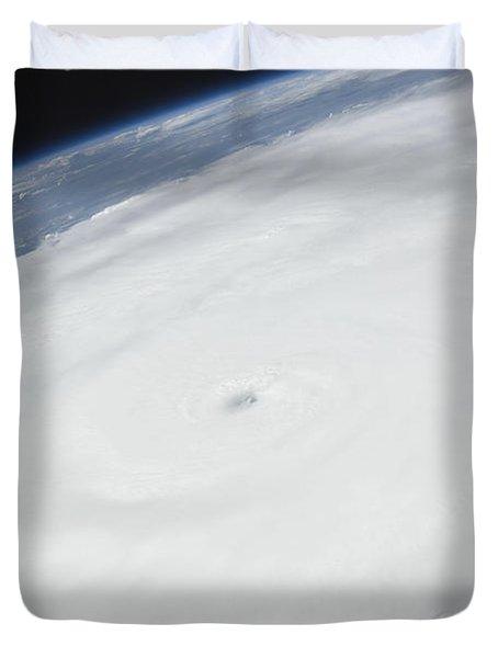 Eye Of Hurricane Irene As Viewed Duvet Cover