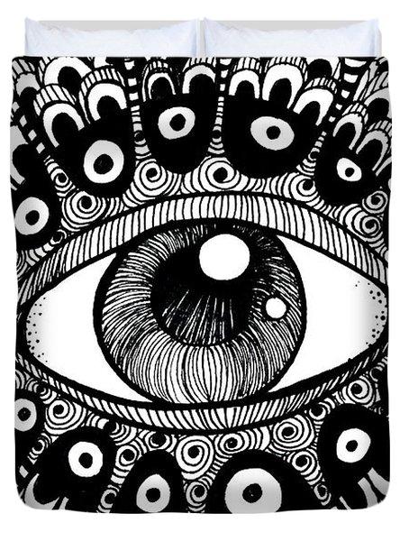Eye Of March Duvet Cover by Nada Meeks