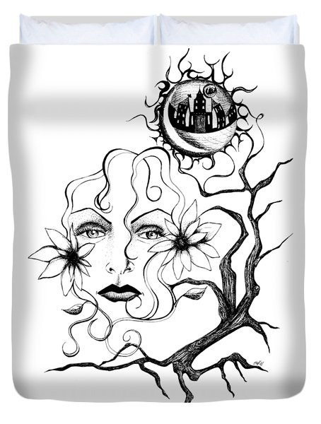 Eye Of The Beholder Duvet Cover by Shawna Rowe