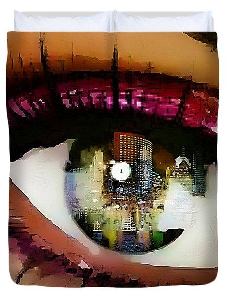 Eye Of The City Duvet Cover by Lynda Payton