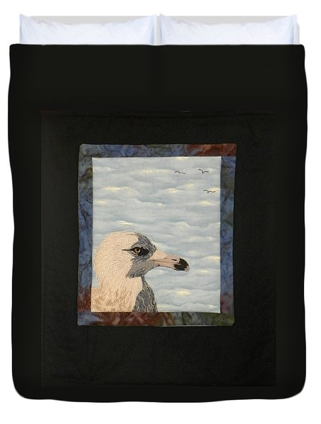 Eye Of The Gull Duvet Cover