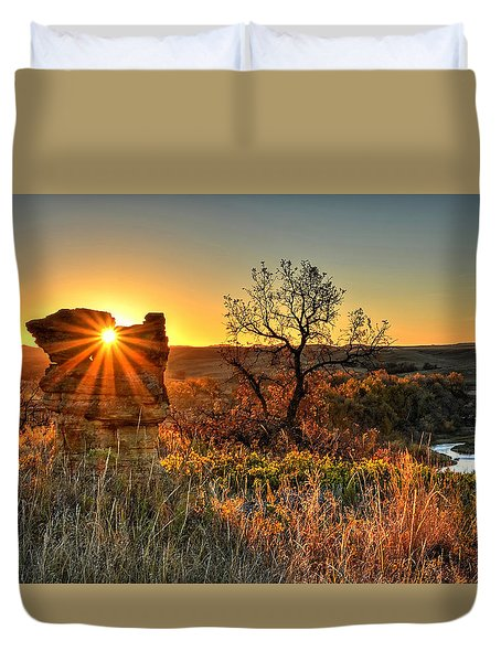 Eye Of The Monolith Duvet Cover