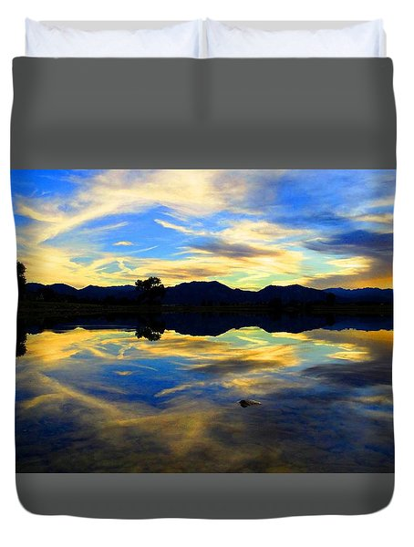 Eye Of The Mountain Duvet Cover by Eric Dee